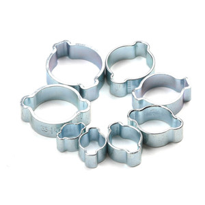Image 4 - 80Pcs Hose Clamp Double Ears Clamp Worm Drive Fuel Water Hose Pipe Clamps Clips Hose Fuel Clamps 5 20mm Kit