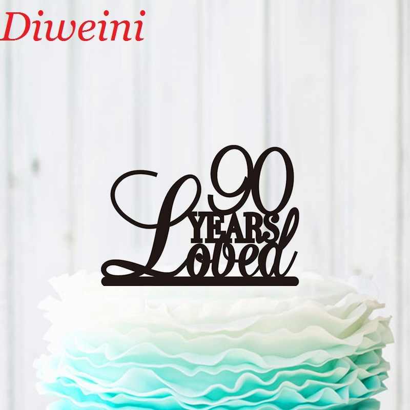 Pleasing 90 Years Loved Cake Topper Birthday Cake Topper Custom 90Th Funny Birthday Cards Online Elaedamsfinfo