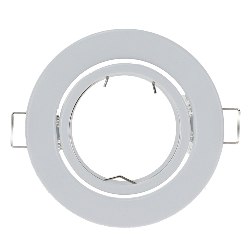 10pcs/lot Round White LED Recessed Ceiling Light Adjustable Frame For GU10 MR16 Fitting Mounting Ceiling Spot Lights Frame