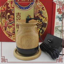 Natural Stone health care health warming moxibustion instrument Oak pedestal meridian energy device