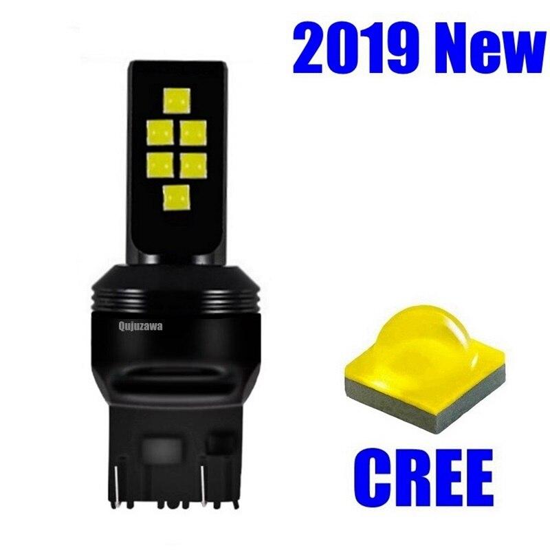 Luces LED de circulación diurna para coche, intermitentes de freno para automóvil, Bombilla DRL, T20 7443 W21/5W 12 SMD 3535 Chip, blanco, rojo y amarillo, 1 Uds.