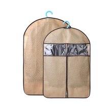 Нетканый чехол для защиты от пыли с визуальным окном на молнии, чехлы для одежды, сумки для одежды, органайзер для одежды Vestido