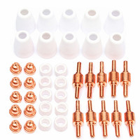 40pcsPT 31 LG 40 Air Plasma Cutter Cutting Torch Accessories KIT Plasma Nozzles TIPS Fit Cut