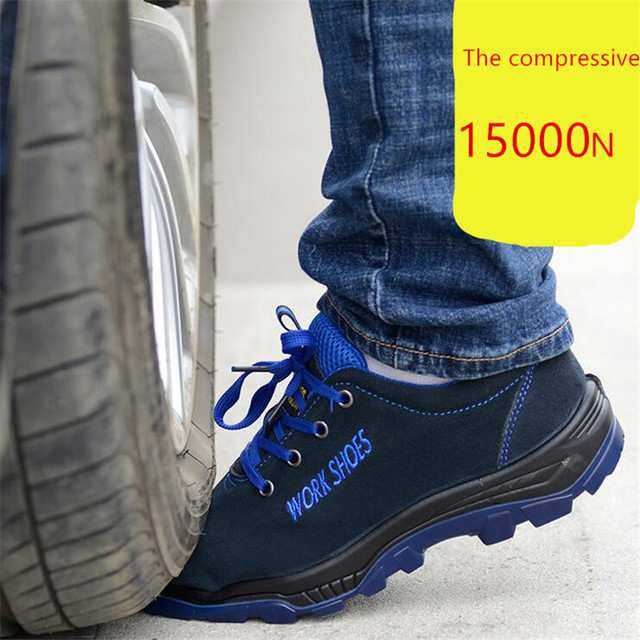 MEIL Men's Breathable Steel Toe Safety Shoes with Puncture Proof Midsole Slip Resistance Light Weight Work Boot 2