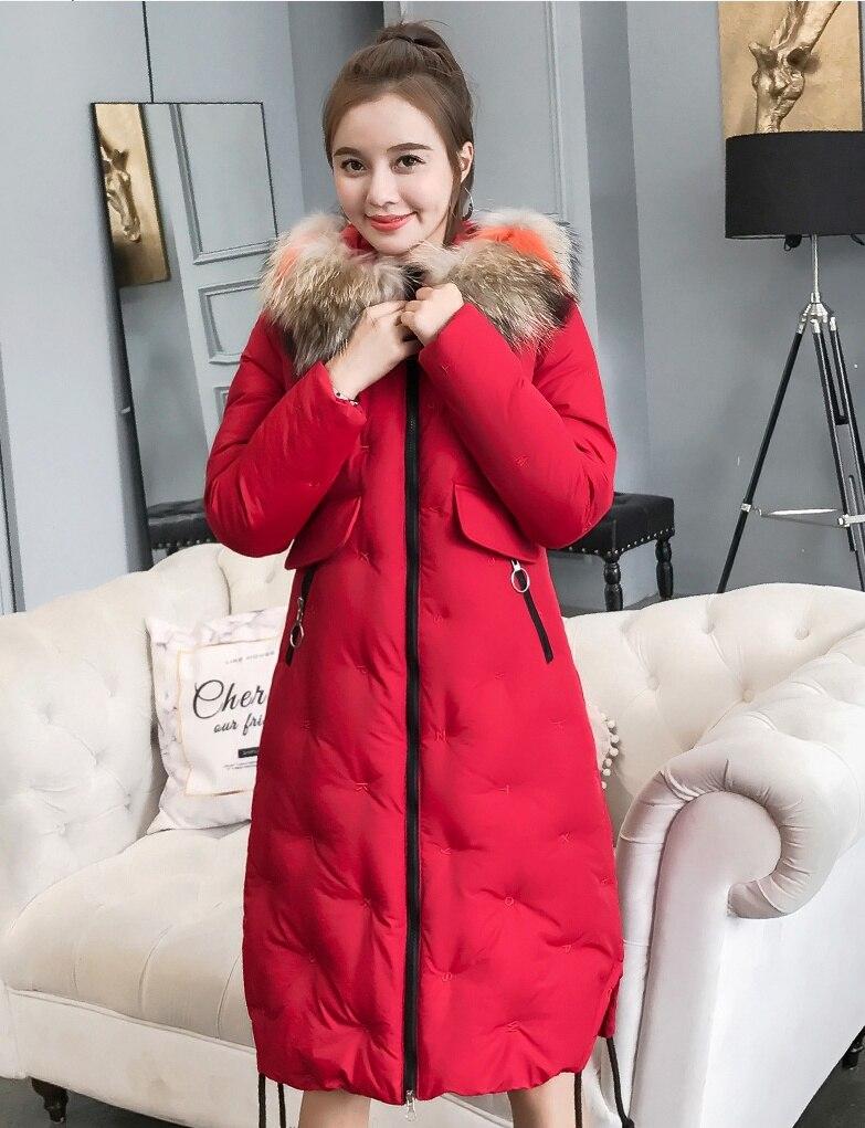 Longue Col D'hiver 2018 Fourrure Mode De Parkas Femmes Marée Nouvelles xqxRwU8TY