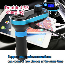 catuo BT66 Wireless Handsfree Bluetooth Car Kit FM MP3 Player Transmitter Support USB Dual 2.1A USB Charger