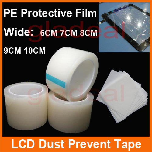 70mm X 100M Dust LCD Screen Display Sticky Protective Film PE Remove Roll Tape