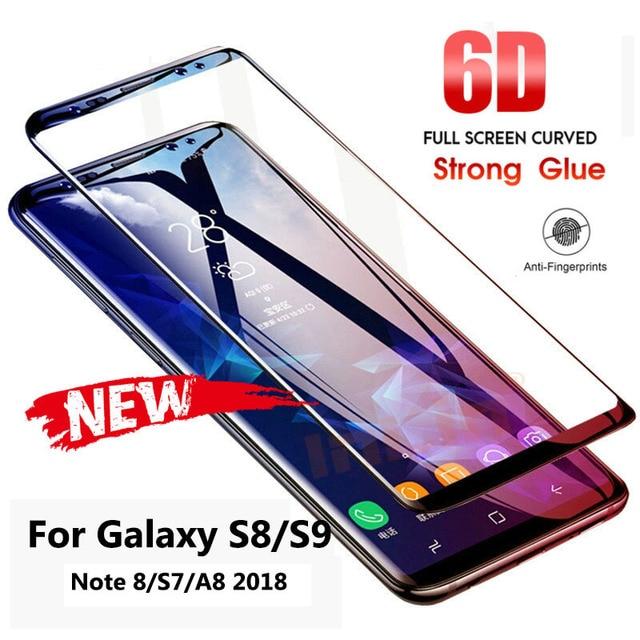 6D полный изогнутое закаленное Высокопрочное Стекло для samsung Galaxy S9 S8 Plus Note 8 Экран протектор для samsung A8 2018 S7 краем защитная пленка