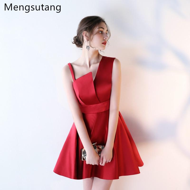 Robe de soiree 2019 Wine Red Stain A Line Halter Backless sleeveless evening dress vestido de festa prom dresses party dresses
