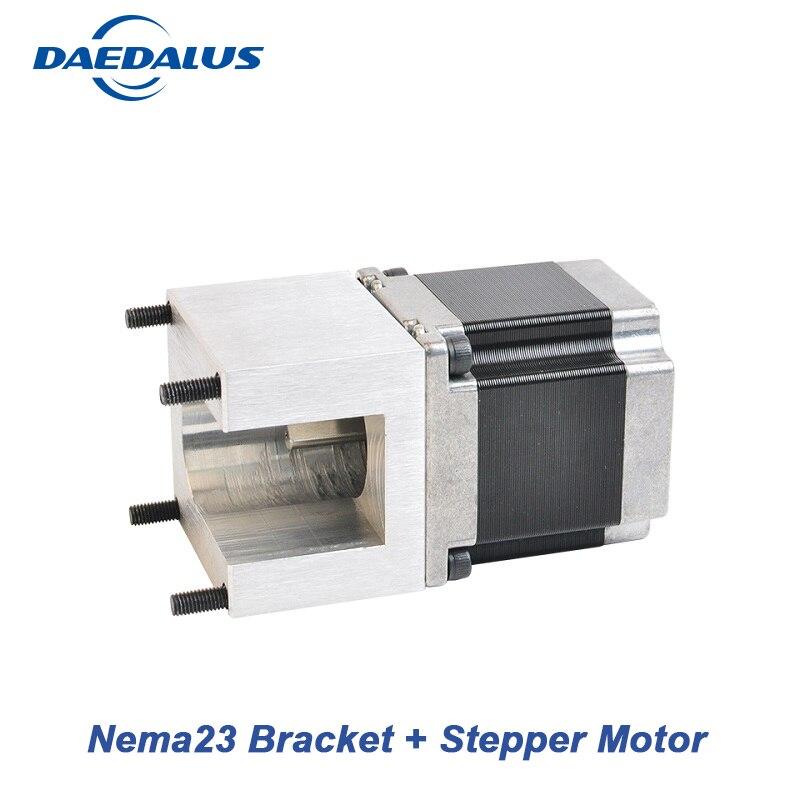 цена на Free Shipping Nema23 Mounting Bracket Clamp + Nema23 Stepper Motor 57 Motor 23HS5628 Stepper For CNC Laser 3D Printer XYZ