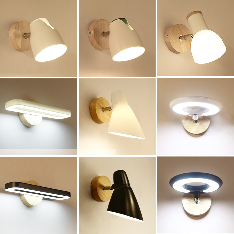 Creative led wall lamp Hotel bedroom bathroom light living room bedside Modern led wall light reading wall lamp mirror lights modern american country retro mirror front wall light creative bedside bedroom living room study long arm wall lamp
