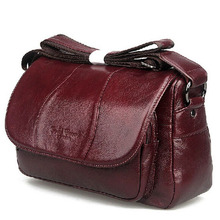 2015 cowhide women s bags first layer of genuine leather messenger bag female casual ladies font