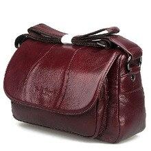 2015 cowhide women's bags first layer of genuine leather messenger bag female casual ladies handbag shoulder bag