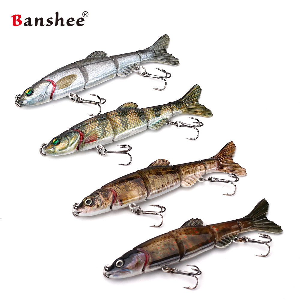 Banshee 100mm 10g Pencil Fishing Lures Swimbait Jointed 5 Sections Hard Artificial Bait  ...