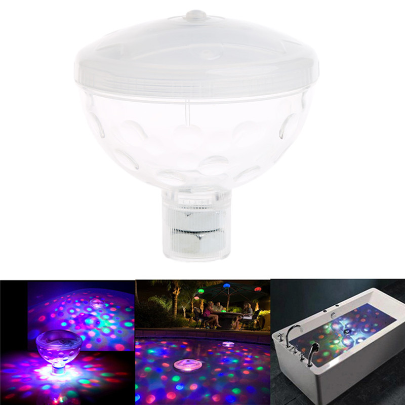 YAM Waterproof Underwater Floating Light Water Lamp 4 LED Show Swimming Pool Garden Xmas Party
