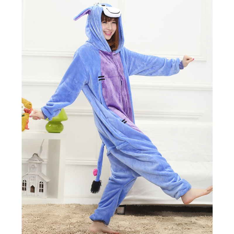 Donkey Onesie Animal Pajama Eeyore Costume Couple Adult Men Women Overalls Sleepwear Funny Carnival Party Suit Flannel Soft Warm on Aliexpress.com | Alibaba ...  sc 1 st  AliExpress.com & Donkey Onesie Animal Pajama Eeyore Costume Couple Adult Men Women ...