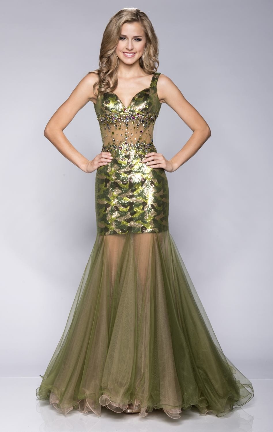 Camo Green prom dresses pictures advise to wear for on every day in 2019