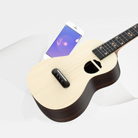 Populele S2 Acoustic Electric Guitar Smart Soprano Ukulele 23 Inch Mini Guitar Ukulele Concert for Beginners 4 String Guitarra