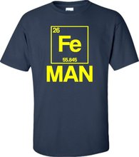 2017 Promotion Special Offer Print Cool Graphic T Shirts Short O-neck Mens Iron Periodic Table Man Funny Chemistry Science Tees
