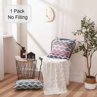 PHF funda de cojín a rayas de cinco colores 45x45cm divertidas almohadas de algodón 1 Uds.