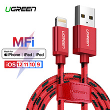 Ugreen for iPhone Cable Lightning to USB Cable for iPhone 8 Xs Max XR 7 Fast Charging Cable Mobile Phone Cable USB Charger Cord