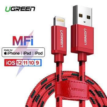 Ugreen for iphone 케이블 번개 usb 케이블 iphone 8 xs max xr 7 고속 충전 케이블 휴대 전화 케이블 usb 충전기 코드