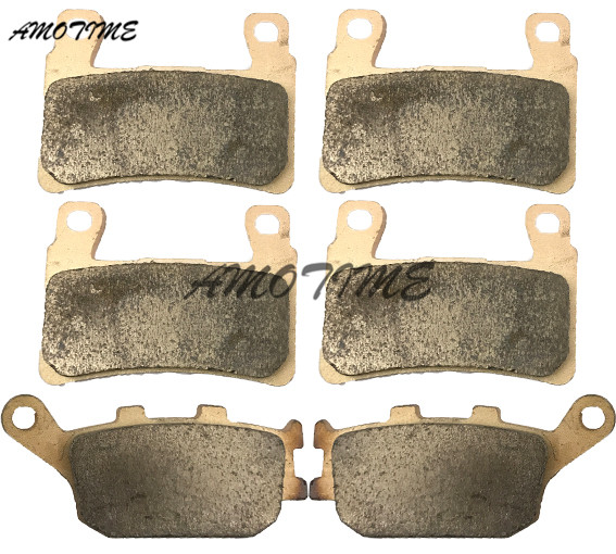 Motorcycle Parts Copper Based Sintered Motor Front & Rear Brake Pads For Honda CBR600 F3 F4 F4I 1999-2006 CBR600RR F5 03 04