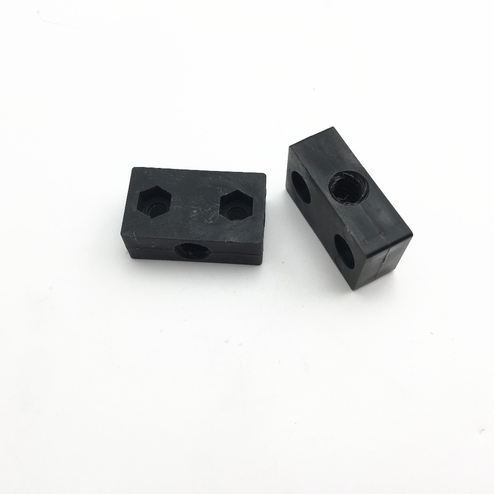Anti-backlash T8 Screw Nut Plate Seat Block w// 2MM Pitch 8MM Lead for 3D Printer