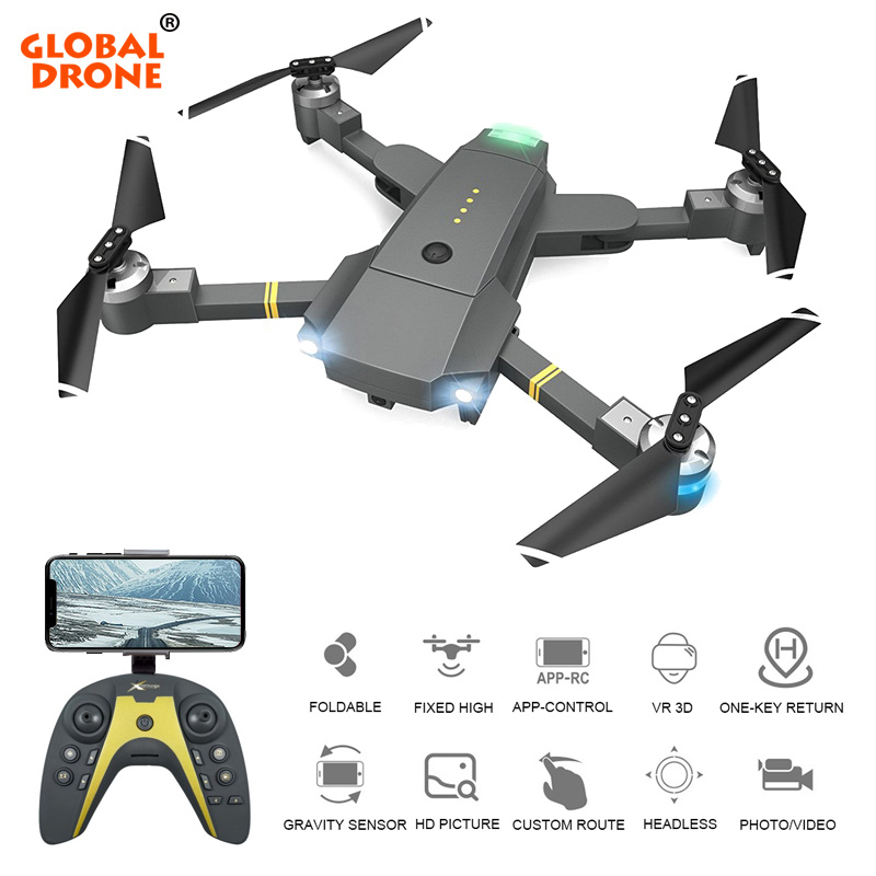Global Drone Selfie Dron with HD Camera 20 Mins Flight Time Drones One Key Return Follow