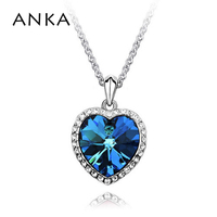 ANKA Heart Crystal Necklace High Quality 100 Years For Women Gift Crystal Rhinestone Jewelry 100 Crystals