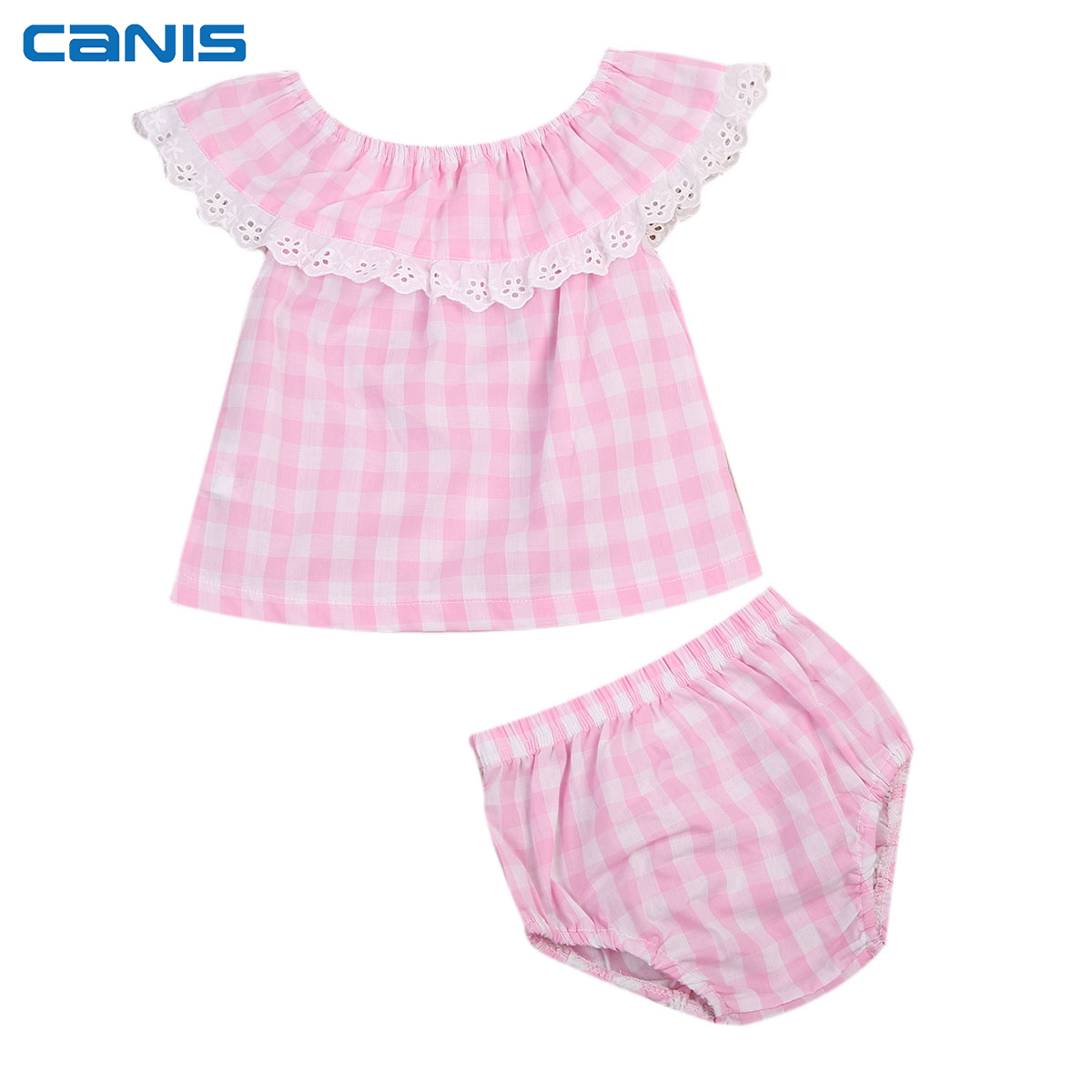 2Pcs Lovely Baby Set Newborn Infant Baby Girls Outfit Strapless T-Shirt Tops Short Pants Leggings Outfits Set Clothes Summer t shirt tops cotton denim pants 2pcs clothes sets newborn toddler kid infant baby boy clothes outfit set au 2016 new boys