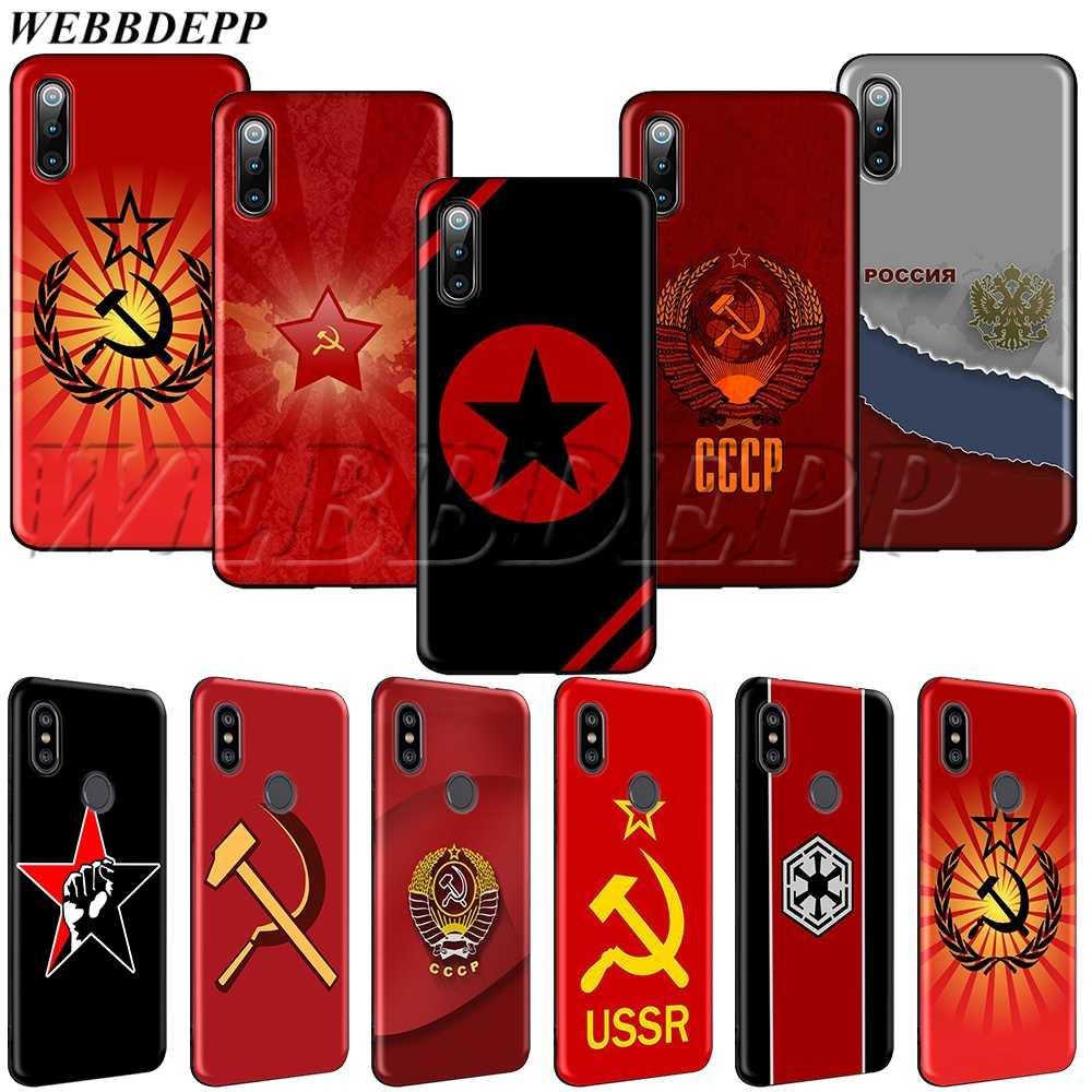 WEBBEDEPP สหภาพโซเวียต USSR ธงนุ่ม TPU Case สำหรับ Xiao Mi สีแดง Mi Mi Note 8 T 10 MAX A1 a2 5X6X3 6 8 9 SE F1 Lite
