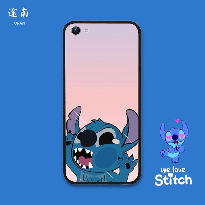 Cute cartoon Lilo Stitch Coque Funda cute case Cover For VIVO X9 X7 X6 X20 V7 Y79 Y66 Y67 Y69 Y55 Y53 Y75 fashion phone cases in Phone Bumpers from Cellphones Telecommunications