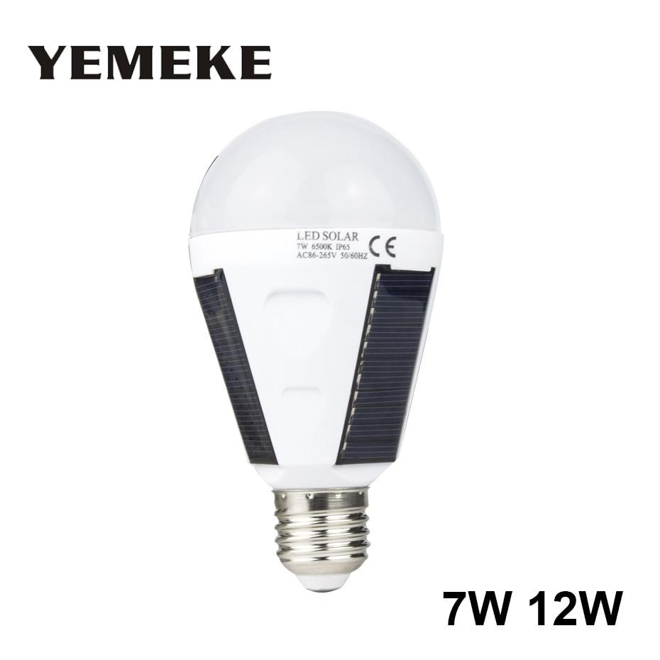 823517619e Chaude 7 W 12 W LED Solaire Puissance Lumineuse de La Lampe Portable LED  lampe solaire Luminaria Panneau À Énergie Solaire En Plein Air Lumière  Solaire De ...