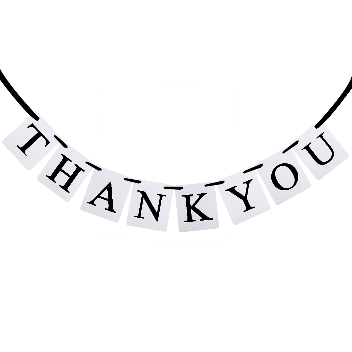 Thank You Black White Vintage Bunting Banner For Wedding