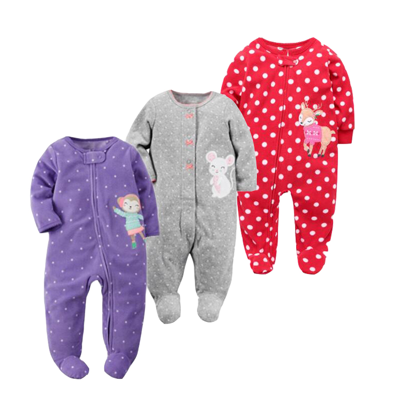 2019 spring baby girl clothes kids soft fleece   rompers   kids Jumpsuits Pajamas 9-24M infant girl boys clothes baby costumes