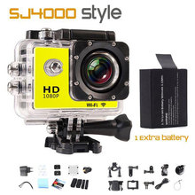 WIFI Action Cam Diving 30M Waterproof 1080P Full HD Go Underwater Pro Style Helmet Cam Sport DV 12MP Photo Pixel Camera GOLDFOX
