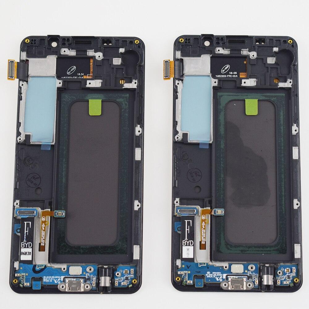 Adjust For Samsung Galaxy A5 2016 A510 A510F A510M SM-A510F Touch Screen Digitizer Sensor + LCD Display Screen Assembly Frame