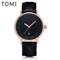 Tomi Men Watches Top Brand Luxury Leather Strap Sport Men Quartz Wristwatch Waterproof Fashion Luxury Gift