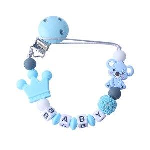 Image 2 - ส่วนบุคคลชื่อเด็ก Pacifier คลิป Koala ห่วงโซ่ Pacifier สำหรับทารก Teething Soother Chew ของเล่น Dummy Clips