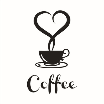 Coffee wall sticker shop Restaurant wall decor decals home decorations kitchen removable vinyl wall art diy decorative sticker cartoon plant vinyl decorative wall sticker