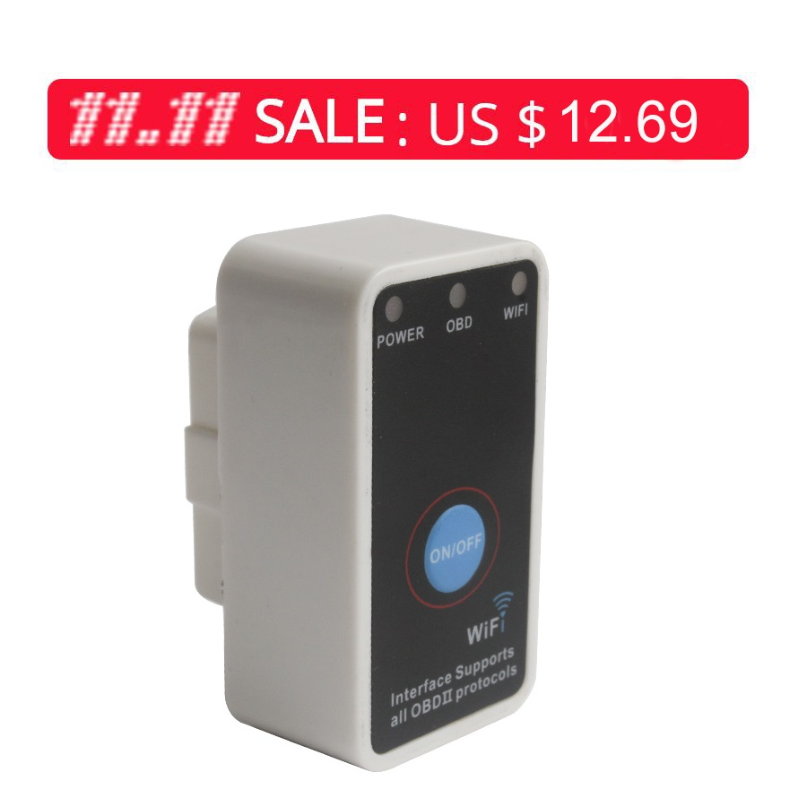 V2.1 Super Mini ELM327 WiFi With Switch Work With iPhone OBD-II OBD Can Code Reader Tool ...