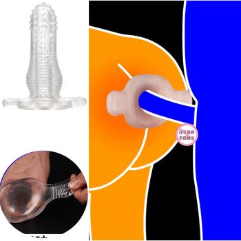Silikonowe Hollow dildo analne analne zabawki erotyczne dla kobiet mężczyzn masażer prostaty Anal rozszerzenie Dilator stymulator produkty dla dorosłych tanie i dobre opinie Anal sex zabawki JIUAI Adult Products Sex Toys Anal Sex Plug Anal Sex Toys Anal Plug Anal Sex Toys For Women Men Gay Men