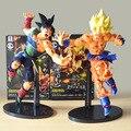 22 CM Dragon ball Z SCultures GRANDE Ressurreição De F Estilo Bardock deus Super Saiyajin Goku PVC Toy action Figure KT1759