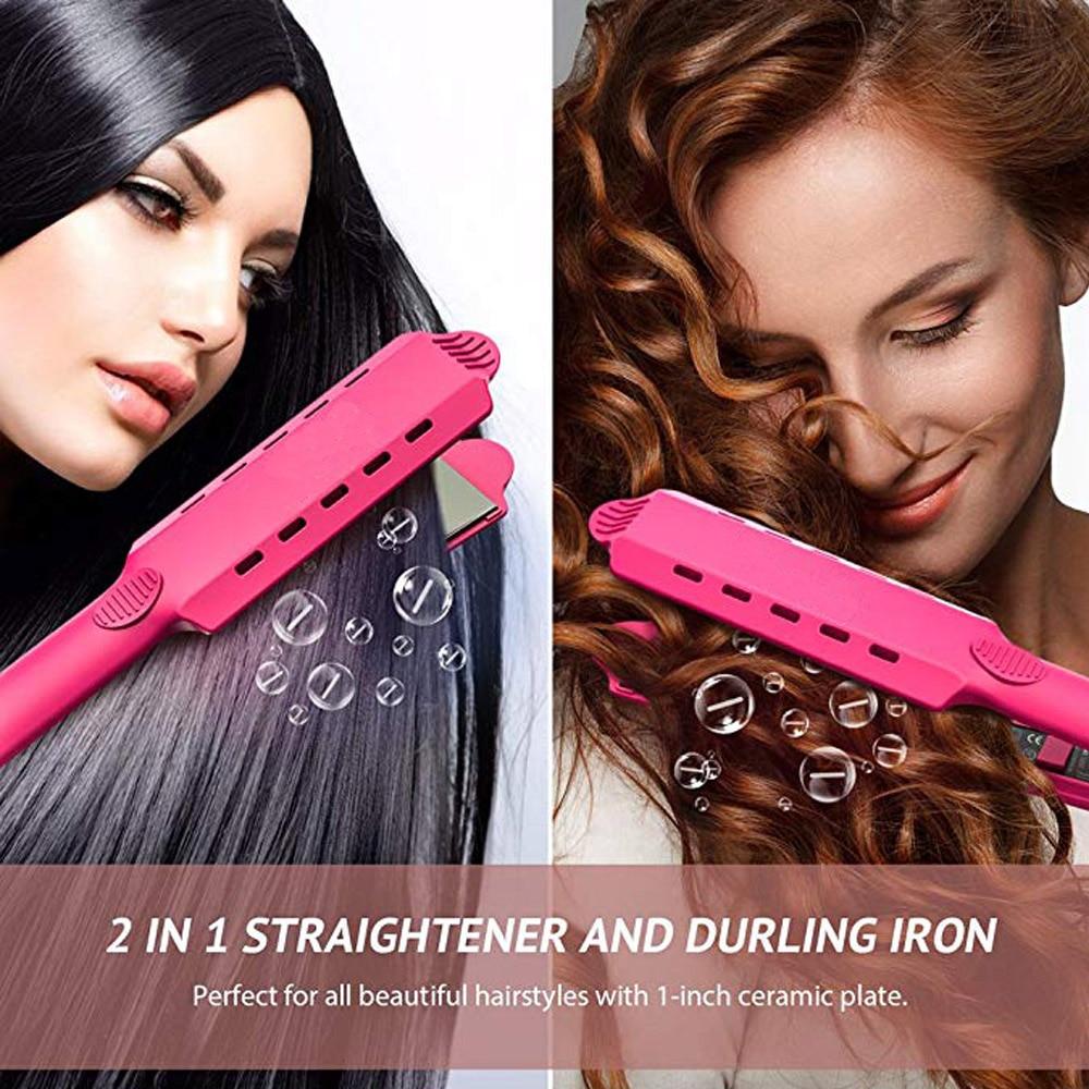 Купить с кэшбэком Professional Electronic Straightening Irons Electric Hair Straightener Flat Iron Fast Warm Up Styling Tools