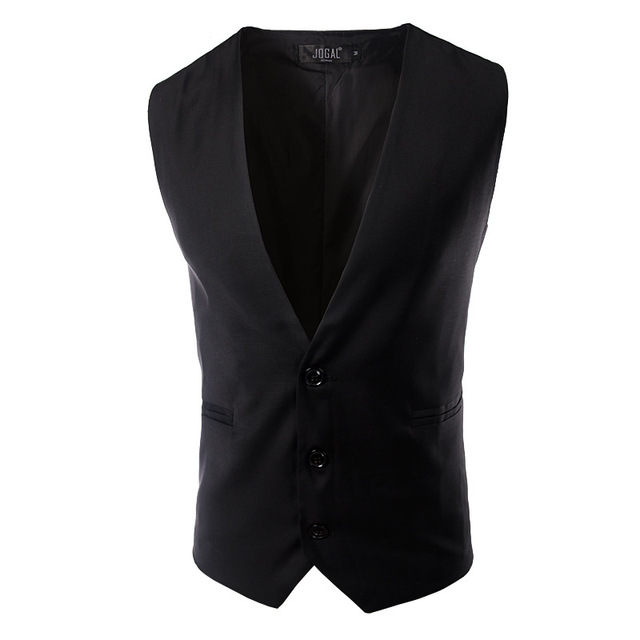 Suit Vest Men Brand New Formal Black Vest Suit Casual Slim Fit Business Gilet Homme Costume Sleeveless Waistcoat Jacket Vest