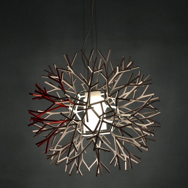 Novelty pendant lamp modern coral ball shape pendant lights black novelty pendant lamp modern coral ball shape pendant lights blackwhite simple dining room study mozeypictures Image collections