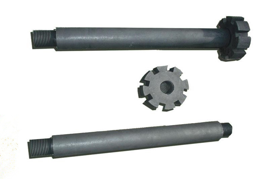 Degassing Graphite Rotor , Rotor rod Dia70-80(mm), Head Dia 180-200 (mm) for Aluminium Die Cast ручной инструмент die 14 5 7mm 20 dia