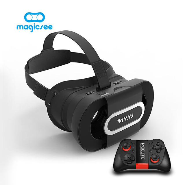 Foldable 3D VR Glasses VR Helmet RITECH VR GO Virtual Reality Movie Game Headset for 4.7-6 inch Smartphone+with remote