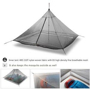 Image 4 - Tente intérieure de Camping ultralégère, grande tente en Nylon pour 4 personnes, 3 saisons, 40D, en maille respirante, sans fil, octogonale, pyramide, 620g